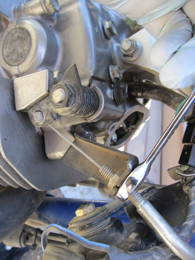 Valve Check And Adjust Suzuki Dr350 Riders Recyclecom Blog Wiring Diagram 1993 Dr 350 Loosening The Cable For Decompression Lever