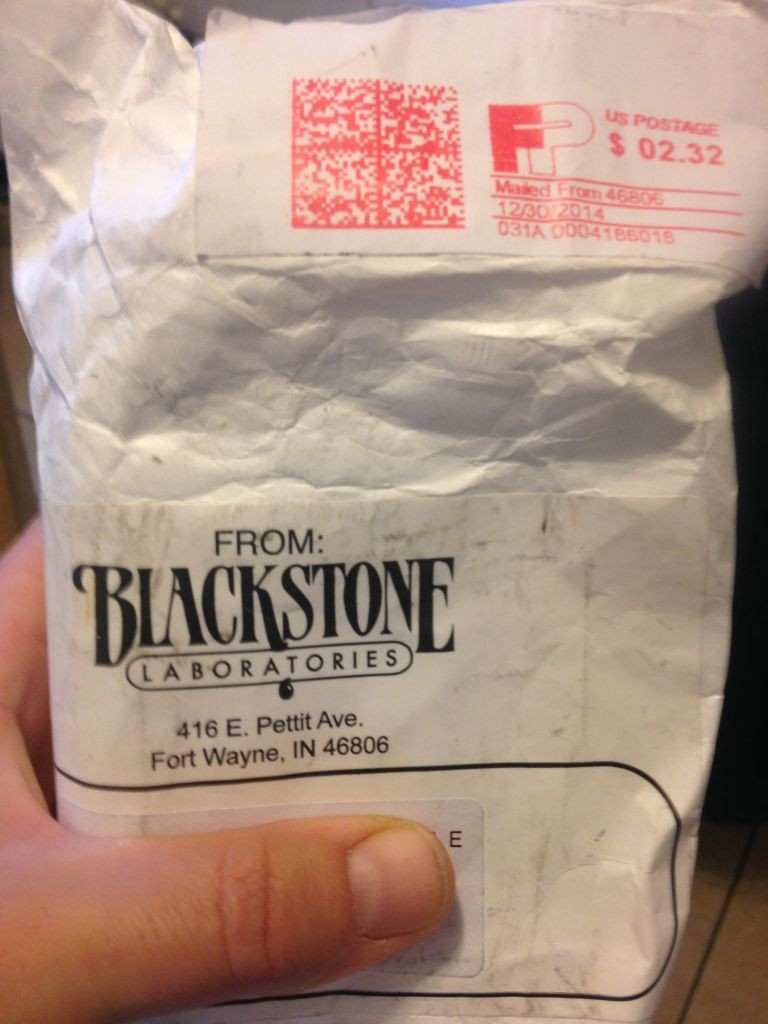 The package from Blackstone Labs