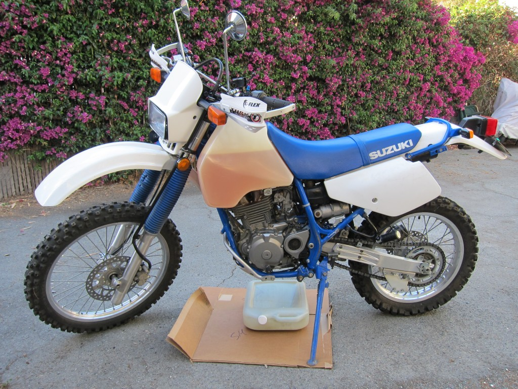 Suzuki DR350 Enduro Oil Change