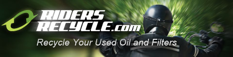 Riders Recycle.com, Recycle your used oil and filters.